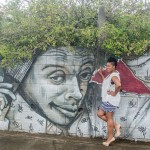 Spike Lee, une oeuvre de l'artiste-graffeur Xän faite en 2013 sur la route du port à Fort-de-France, MARTINIQUE.