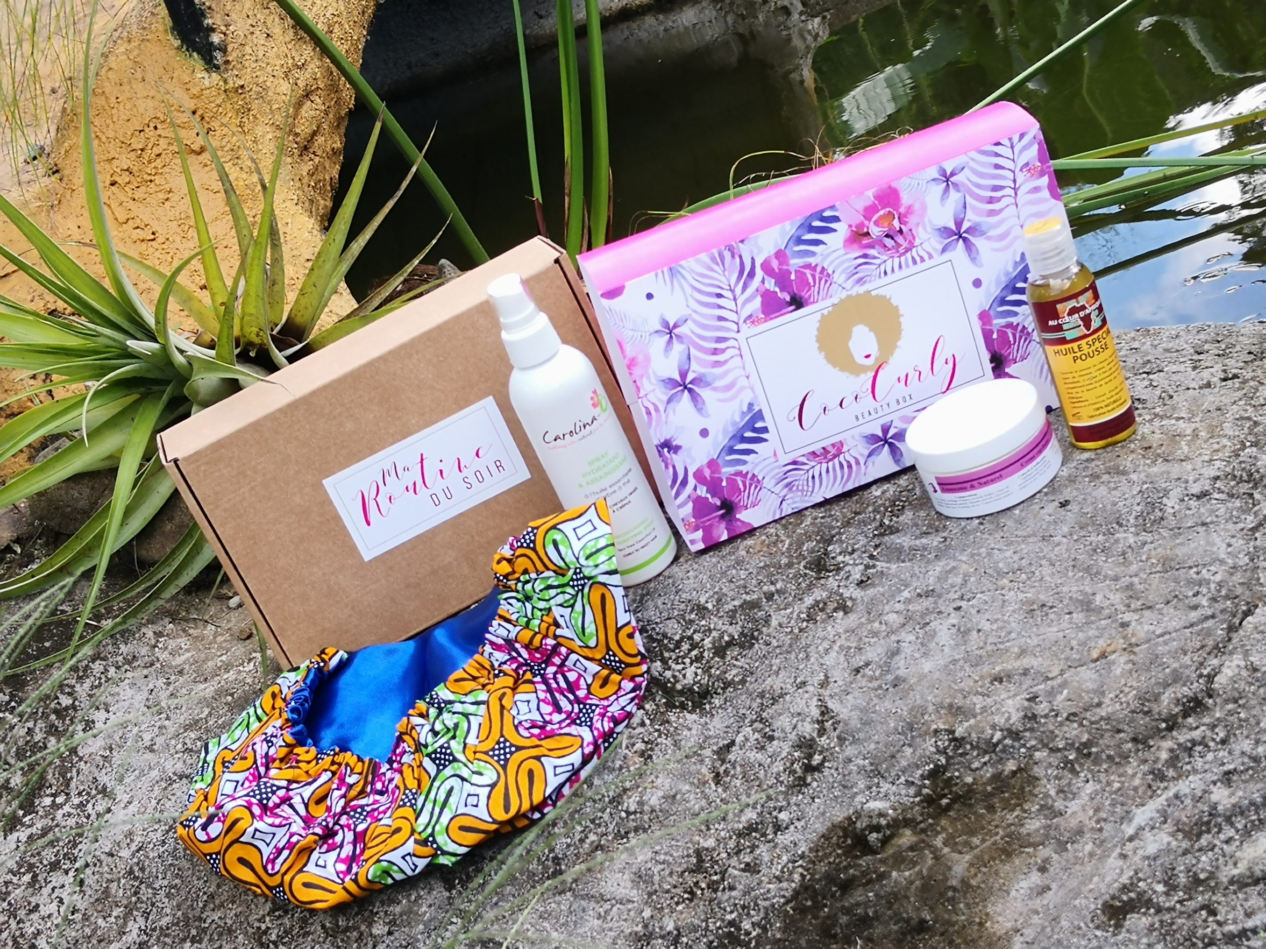 Coco Curly Box Beauty Box made in Guadeloupe